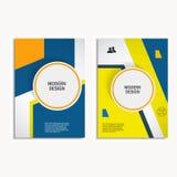 传染媒介设计盖子在A4大小的设计小册子 免版税库存图片