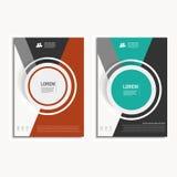 传染媒介设计盖子在A4大小的设计小册子 免版税库存照片