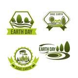 传染媒介象为地球日或生态公司设置了 库存照片