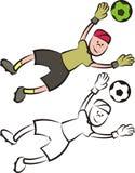 传染媒介足球运动员-守门员 库存照片