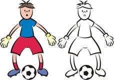 传染媒介足球运动员-守门员 免版税库存图片