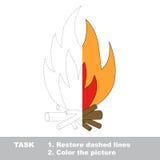 传染媒介踪影比赛 将上色的篝火 免版税库存图片