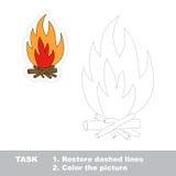 传染媒介踪影比赛 将被追踪的篝火 免版税库存照片