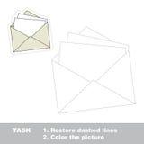 传染媒介踪影比赛 将被追踪的纸信封 免版税库存照片