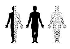 传染媒介身体孤立和身体滤网 抽象背景设计例证马赛克 皇族释放例证