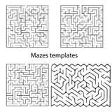 传染媒介迷宫模板 免版税库存图片