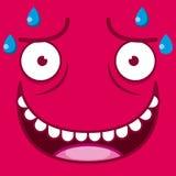 传染媒介逗人喜爱的动画片红色满身是汗的面孔 皇族释放例证