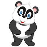 传染媒介逗人喜爱的熊猫微笑  免版税图库摄影