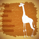 传染媒介逗人喜爱的纸样式长颈鹿例证 免版税库存照片
