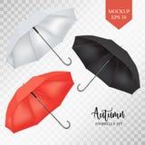 传染媒介遮阳伞,雨伞遮光罩集合 圆的色的嘲笑  库存照片
