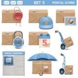传染媒介邮政象设置了5 免版税图库摄影