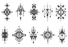 传染媒介部族元素,种族收藏 免版税库存照片