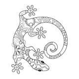 传染媒介部族装饰蜥蜴 皇族释放例证