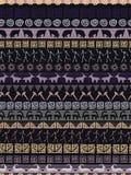 传染媒介部族镶边无缝的样式 几何的背景 民间装饰纺织品 向量例证