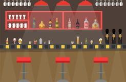 传染媒介-酒吧逆舱内甲板 免版税图库摄影
