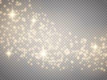 传染媒介金子闪烁波浪摘要背景 魔术背景 免版税库存照片