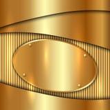 传染媒介金属金装饰背景 免版税库存照片