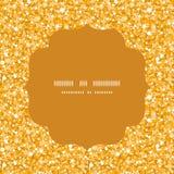 传染媒介金黄发光的闪烁纹理圈子框架 免版税库存照片