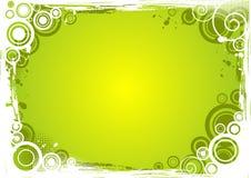 传染媒介难看的东西圈子背景以绿色 免版税库存照片