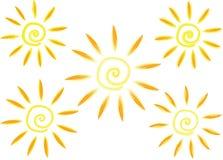 传染媒介难看的东西太阳 免版税库存照片
