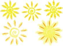 传染媒介难看的东西太阳 库存照片