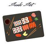 传染媒介集合寿司 库存照片