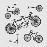 传染媒介集合符号自行车 图库摄影