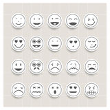 传染媒介集合面孔情感 免版税库存图片