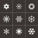 传染媒介雪花象集合 库存图片