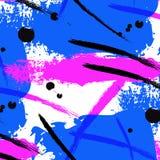 传染媒介霓虹飞溅刷子冲程 液体明亮的海报设计 五颜六色的油漆对比盖子 摘要塑造简单的艺术 向量例证
