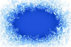 传染媒介霜框架 免版税图库摄影