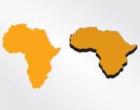传染媒介非洲详细的地图 免版税库存照片