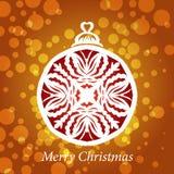 传染媒介有花边的雪花圣诞节装饰 免版税库存图片