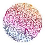 传染媒介音乐概念-音符 图库摄影