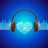 传染媒介音乐概念 免版税库存图片