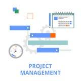 传染媒介-项目管理 免版税库存照片