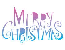 传染媒介题字圣诞快乐 标题 用手画 字法 词 信函 大写字母 乱画 免版税图库摄影