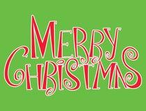 传染媒介题字圣诞快乐 标题 用手画 字法 词 信函 大写字母 乱画 免版税库存照片