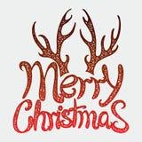 传染媒介题字圣诞快乐 标题 用手画 字法 词 信函 大写字母 乱画 库存图片