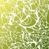 传染媒介颜色手图画波浪海背景 绿色抽象海纹理 免版税库存照片