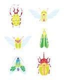 传染媒介颜色甲虫 免版税库存图片