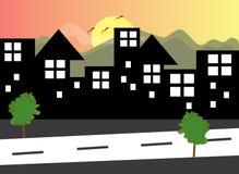 传染媒介风景城市 免版税库存图片