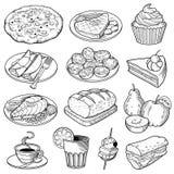 传染媒介食物例证 免版税库存图片
