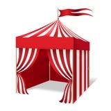 传染媒介马戏或狂欢节帐篷 库存例证