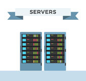传染媒介高科技互联网数据中心服务器 免版税图库摄影