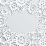 传染媒介齿轮和嵌齿轮抽象背景 免版税库存图片