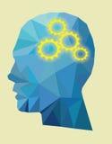 传染媒介齿轮头概念 免版税库存照片