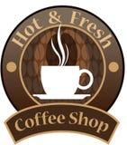 传染媒介,咖啡店标志 图库摄影