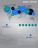 传染媒介annal报告或infographics 库存图片