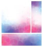 传染媒介bokeh背景、桃红色和蓝色 库存照片